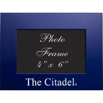 The Citadel - 4x6 Brushed Metal Picture Frame - Blue