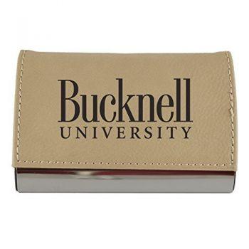 Velour Business Cardholder-Bucknell University-Tan