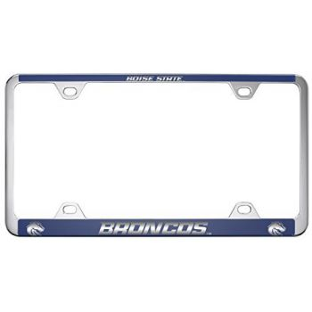 Boise State University -Metal License Plate Frame-Blue