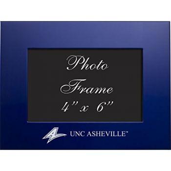 University of North Carolina at Asheville - 4x6 Brushed Metal Picture Frame - Blue
