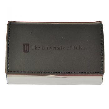 Velour Business Cardholder-University of Tulsa-Black