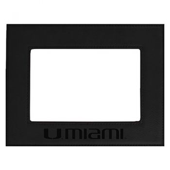 University of Miami-Velour Picture Frame 4x6-Black