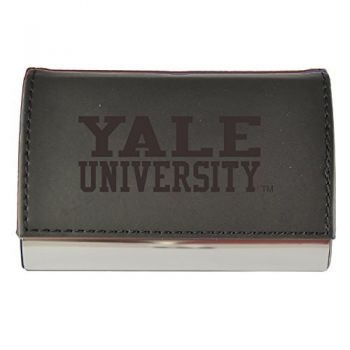 Velour Business Cardholder-Yale University-Black