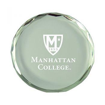 Manhattan College-Crystal Paper Weight
