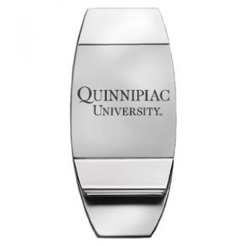 Quinnipiac University - Two-Toned Money Clip - Silver