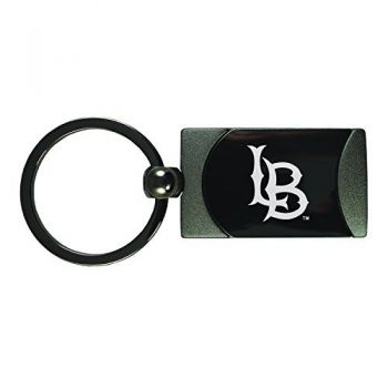 Long Beach State University -Two-Toned Gun Metal Key Tag-Gunmetal