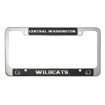 Central Washington University -Metal License Plate Frame-Black