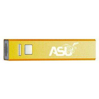 Alabama State University - Portable Cell Phone 2600 mAh Power Bank Charger - Gold