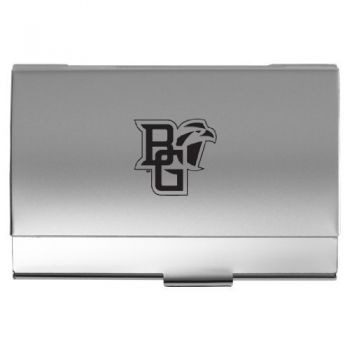 Bowling Green State University - Two-Tone Business Card Holder - Silver