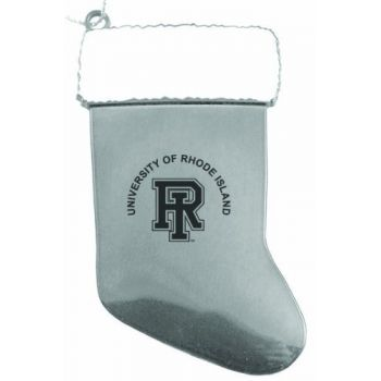 University of Rhode Island - Christmas Holiday Stocking Ornament - Silver