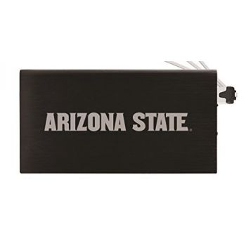 8000 mAh Portable Cell Phone Charger-ASU Sun Devils -Black