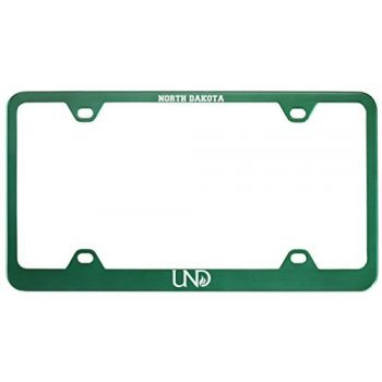 University of North Dakota-Metal License Plate Frame-Green