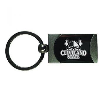 Cleveland State University -Two-Toned Gun Metal Key Tag-Gunmetal