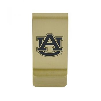 Arizona State University|Money Clip with Contemporary Metals Finish|Solid Brass|High Tension Clip to Securely Hold Cash, Cards and ID's|Silver