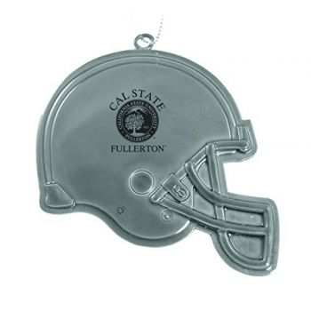 Fullerton College - Christmas Holiday Football Helmet Ornament - Silver
