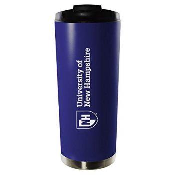 University of New Hampshire-16oz. Stainless Steel Vacuum Insulated Travel Mug Tumbler-Blue