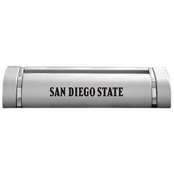 San Diego State University-Desk Business Card Holder -Silver