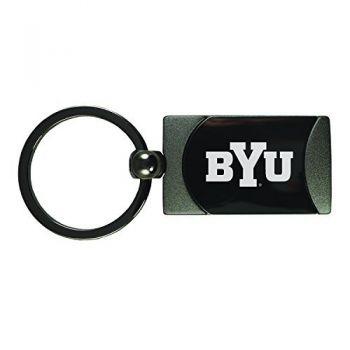 Brigham Young University -Two-Toned gunmetal Key Tag-Gunmetal