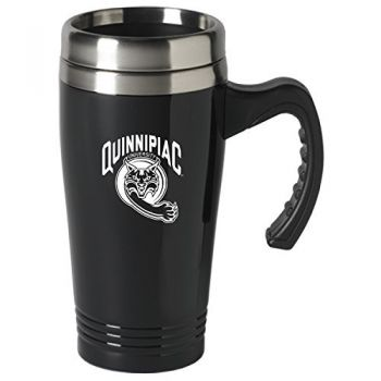 Quinnipiac University-16 oz. Stainless Steel Mug-Black