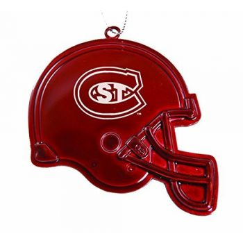 St. Cloud State University - Christmas Holiday Football Helmet Ornament - Red