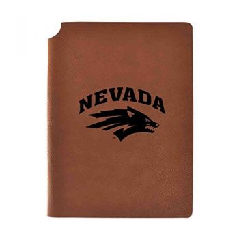 University of Nevada Velour Journal with Pen Holder|Carbon Etched|Officially Licensed Collegiate Journal|
