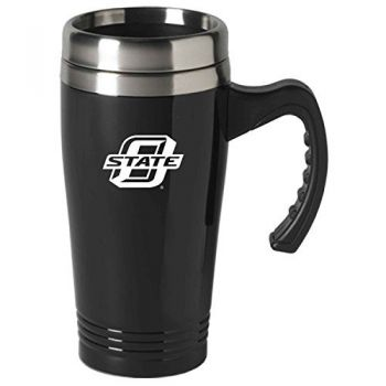 Oklahoma State University-16 oz. Stainless Steel Mug-Black
