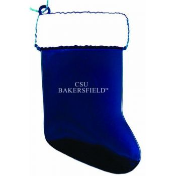 California State University, Bakersfield - Christmas Holiday Stocking Ornament - Blue