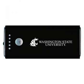 Washington State University -Portable Cell Phone 5200 mAh Power Bank Charger -Black