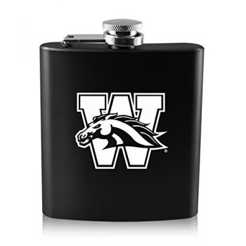 Western Michigan University-6 oz. Color Stainless Steel Flask-Black