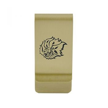 University of Arkansas At Little Rock Money Clip with Contemporary Metals Finish Solid Brass High Tension Clip to Securely Hold Cash, Cards and ID's Silver