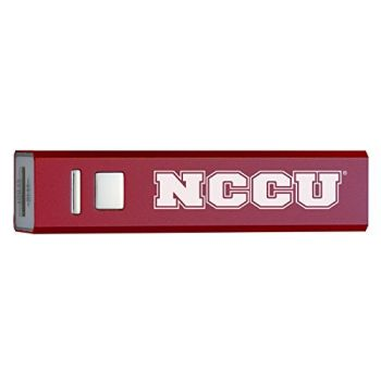 North Carolina Central University - Portable Cell Phone 2600 mAh Power Bank Charger - BURundy