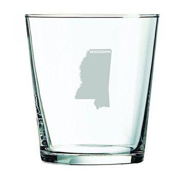 13 oz Cocktail Glass - Mississippi State Outline - Mississippi State Outline