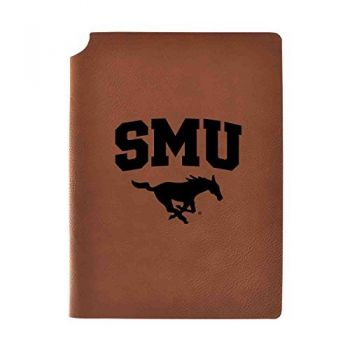 Southern Methodist University Velour Journal with Pen Holder|Carbon Etched|Officially Licensed Collegiate Journal|