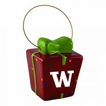 University of Washington-3D Ceramic Gift Box Ornament