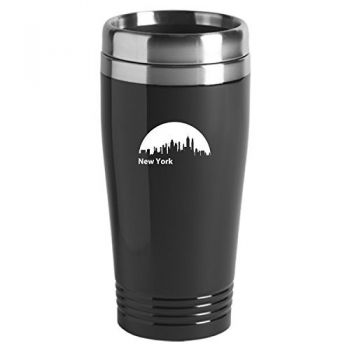 New York City, New York-Travel Mug Tumbler-Black