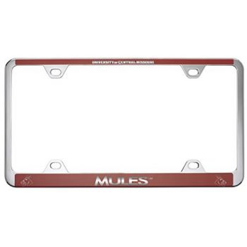 University of Central Missouri -Metal License Plate Frame-Red