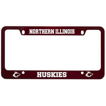 Northern Illinois University -Metal License Plate Frame-Red