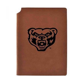 Oakland University Velour Journal with Pen Holder|Carbon Etched|Officially Licensed Collegiate Journal|