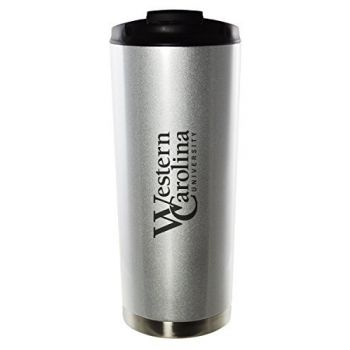 Western Carolina University-16oz. Stainless Steel Vacuum Insulated Travel Mug Tumbler-Silver