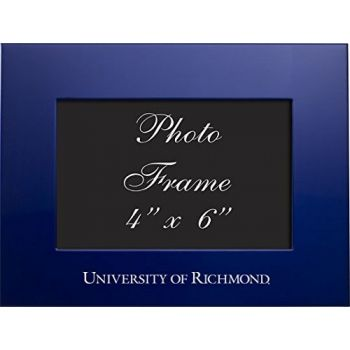 University of Richmond - 4x6 Brushed Metal Picture Frame - Blue