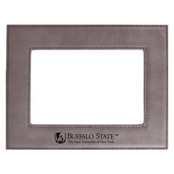 Buffalo State University-The State University of New York-Velour Picture Frame 4x6-Grey