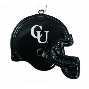 Campbell University - Christmas Holiday Football Helmet Ornament - Black