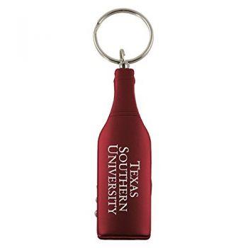 Texas Southern University-Wine Shaped Bottle Opener-Burgundy