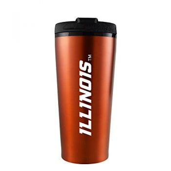 University of Illinois -16 oz. Travel Mug Tumbler-Orange