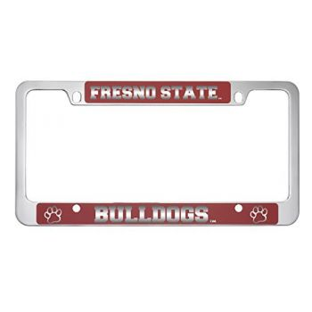 Fresno State -Metal License Plate Frame-Red