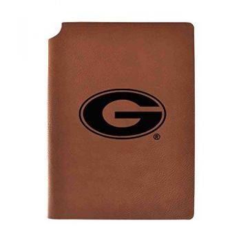 University of Georgia Velour Journal with Pen Holder|Carbon Etched|Officially Licensed Collegiate Journal|