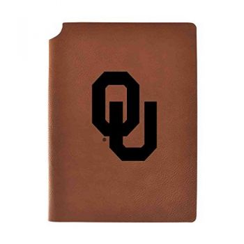 University of Oklahoma Velour Journal with Pen Holder|Carbon Etched|Officially Licensed Collegiate Journal|