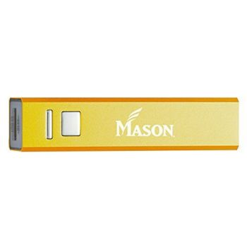 George Mason University - Portable Cell Phone 2600 mAh Power Bank Charger - Gold