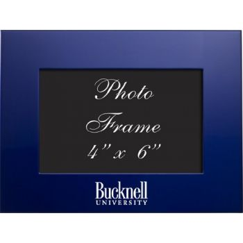 Bucknell University - 4x6 Brushed Metal Picture Frame - Blue