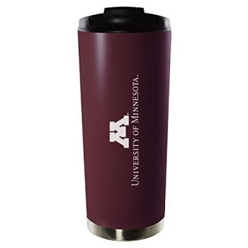 University of Minnesota-16oz. Stainless Steel Vacuum Insulated Travel Mug Tumbler-Burgundy
